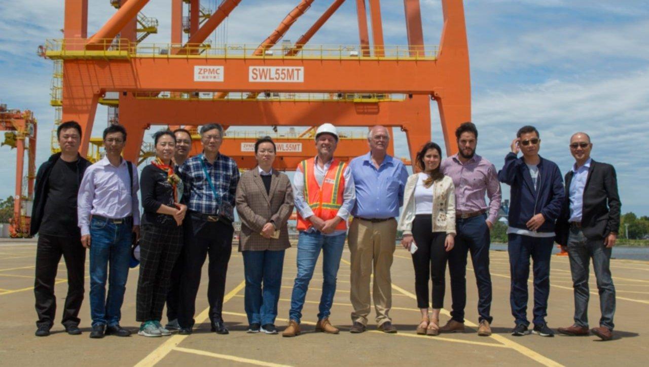 Una delegación China recorrió el Puerto de La Plata